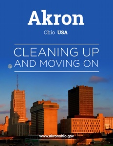 Akron, Ohio brochure cover.