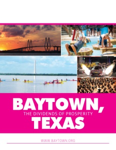 Baytown, Texas brochure cover.