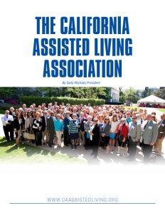 The California Assisted Living Association brochure cover.