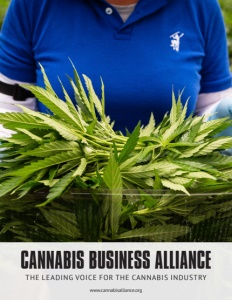 Cannabis Business Alliance brochure cover, click to view.