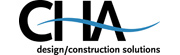 CHA logo. design/construction solutions.