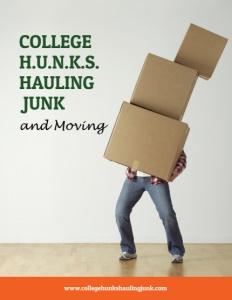 College H.U.N.K.S. brochure cover.