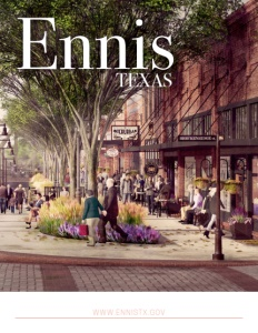 Ennis, Texas brochure cover. Click to view.