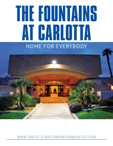 Fountains at Carlotta brochure cover. Click to view.