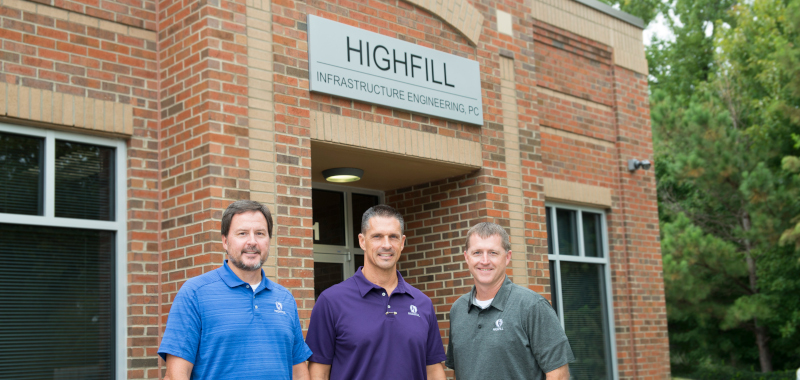VP Chris Ford, VP Ray Cox, Founder and President Tyler Highfill of Highfill Infrastructure Engineering.