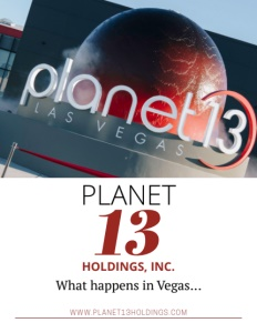 Planet 13 Las Vegas Nevada brochure cover.