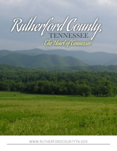 Rutherford County, Tennessee brochure cover.