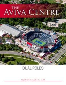 The Aviva Centre brochure cover.