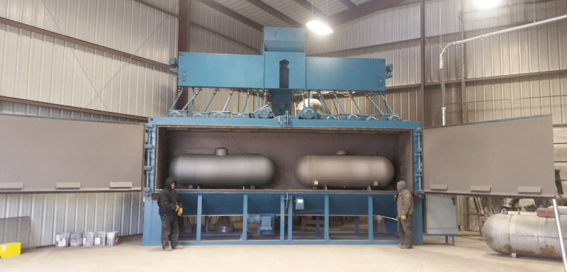 BLT Tanks sand blaster. Large enough to hold 2 large propane tanks.