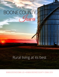 Boone County, Iowa brochure cover.