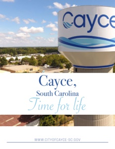 Cayce, South Carolina brochure cover.