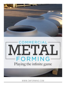 Commercial Metal Forming brochure cover.