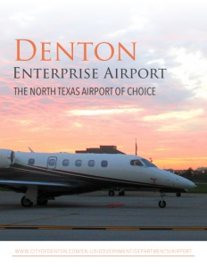 The Denton Enterprise Airport brochure cover.