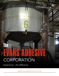 The Evans Adhesive Corporation brochure cover.
