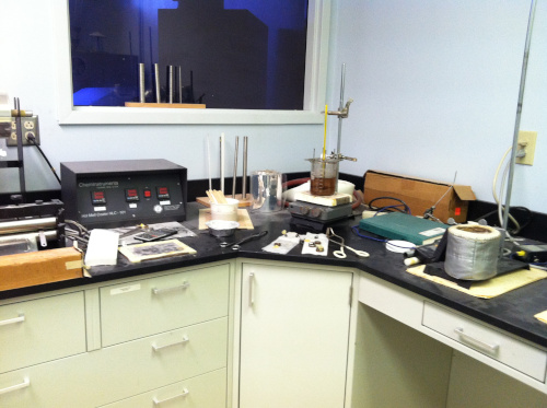 Evans Adhesive Group lab with small batch equipment.