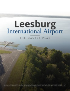 Leesburg International Airport brochure cover.
