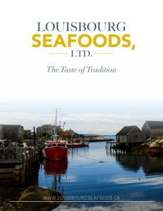 Louisbourg Seafoods brochure cover.
