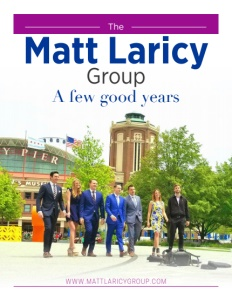 Matt Laricy Group brochure cover.