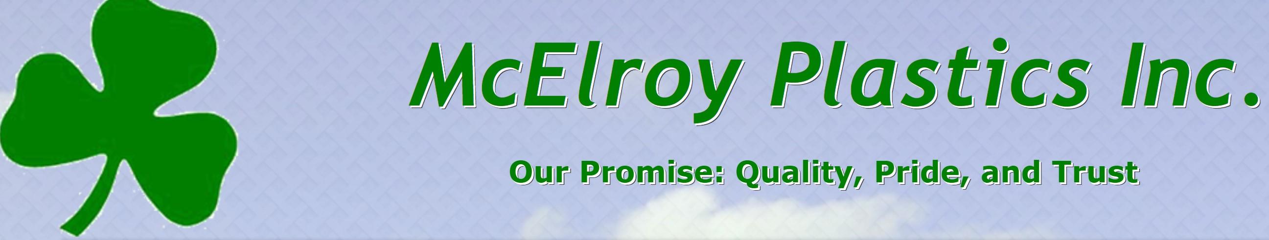 McElroy Plastics header logo.