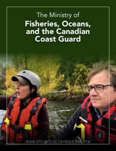 The Ministry of Fisheries, Oceans, and the Canadian Coast Guard brochure cover.