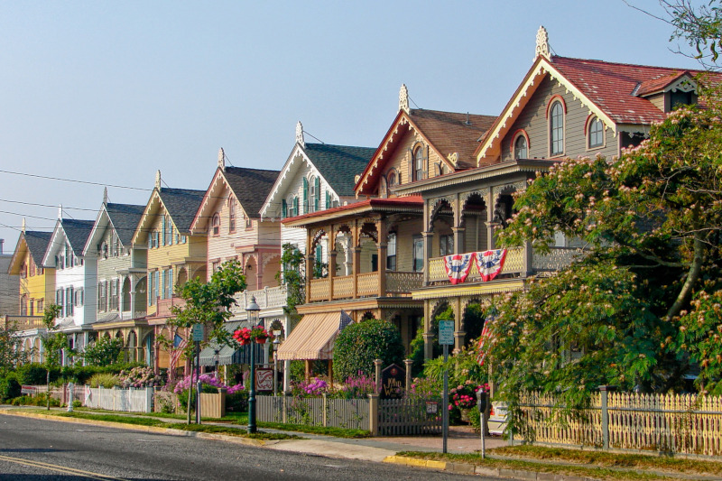 New Jersey Economic Development Authority Cape May row of houses.