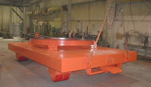 PWC Fabrication example of work showing a heavy duty turret cart.