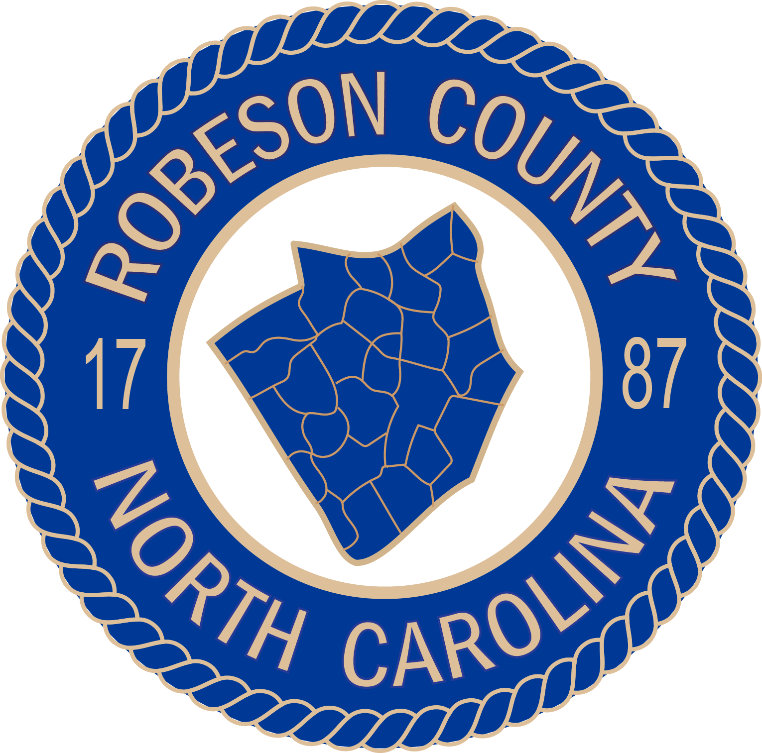 Robeson County, North Carolina logo.