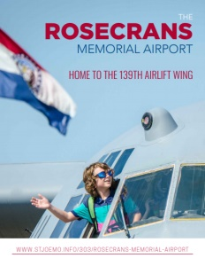 The Rosecrans Memorial Airport brochure cover.