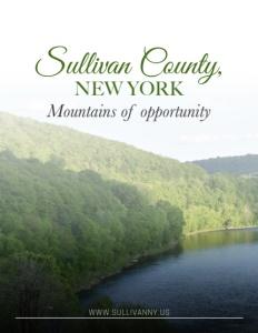 Sullivan County, NY brochure cover.
