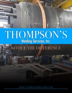 Thompson's Welding Services Inc. brochure cover.
