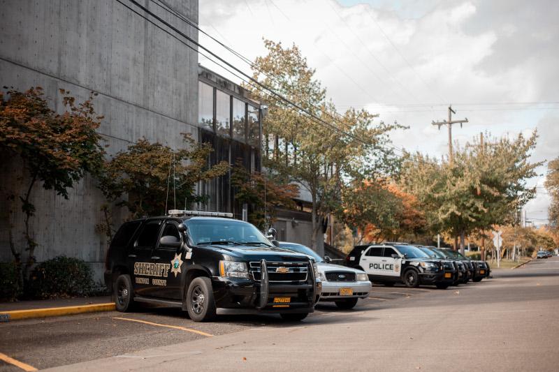 Benton County, Oregon Law Enforcement vehicles and building
