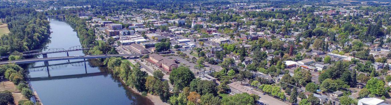 Benton County, Oregon aerial view.