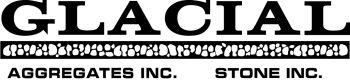 Glacial Aggregates Inc. Stone Inc. logo.