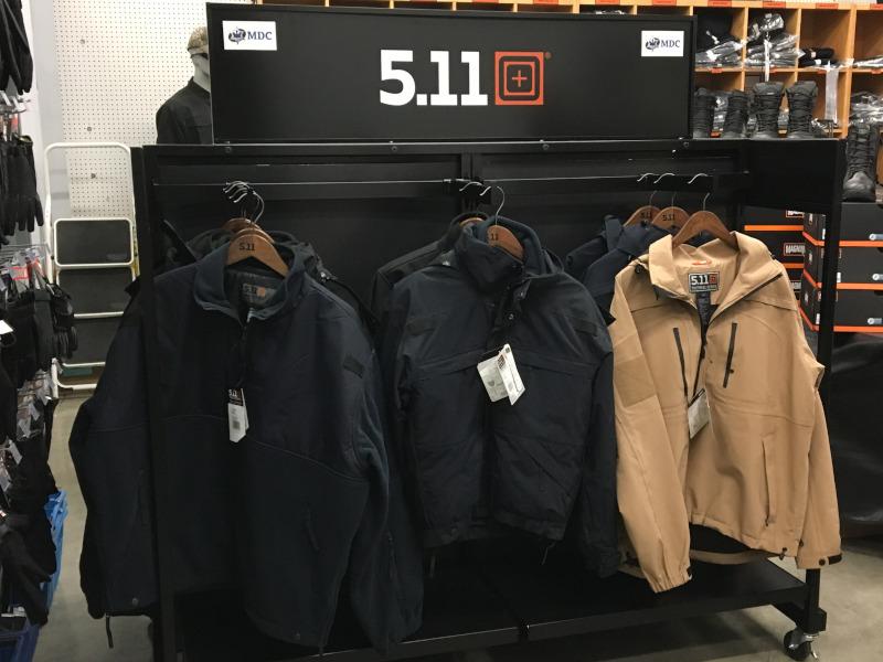 The MD Charlton Company Ltd. 511 jackets display.