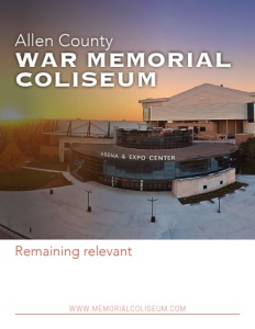 Allen County War Memorial Coliseum brochure cover