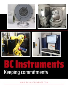 BC Instruments brochure cover.