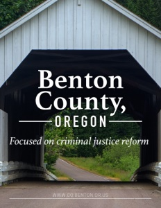 Benton County, Oregon brochure cover.