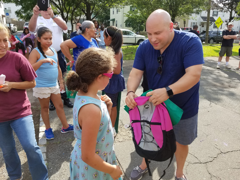Township of Bloomfield, New Jersey Mayor Michael Venezia in the community.