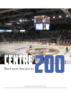 Centre 200 brochure cover.