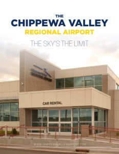 The Chippewa Valley Regional Airport brochure cover.