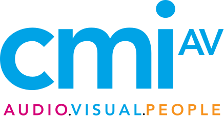 cmi AV logo. Audio.Visual.People