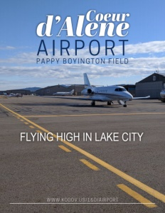 Coeur d'Alene Airport / Pappy Boyington Field brochure cover.