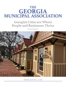 The Georgia Municipal Association brochure cover.