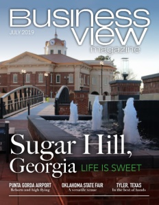 July 2019 issue cover for Business View Magazine