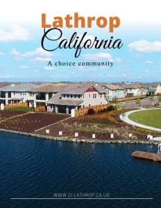 Lathrop, California brochure cover.