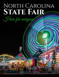 North Carolina State Fair brochure cover.
