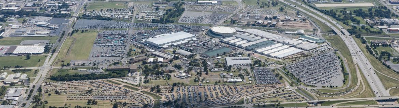 Oklahoma State Fair Park aerial view.