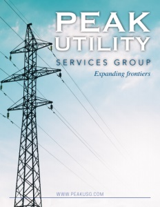 Peak Utility Services Group brochure cover.