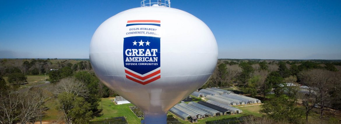 Phoenix Fabricators & Erectors, LLC example of work showing a water tower done for Crestview, Florida.