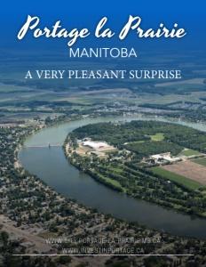 Portage la Prairie, Manitoba brochure cover.